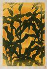 Japanese Sosaku Hanga Woodblock Print Shiro Kasamatsu Sunset 1955