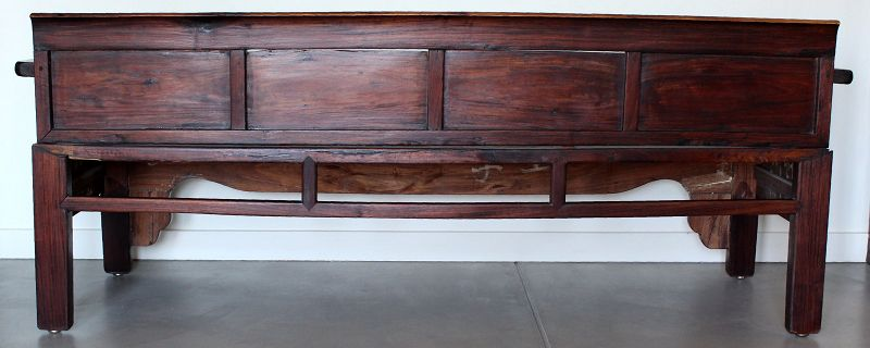 """75"""" Long Chinese Qing Dynasty Hardwood Rosewood Bench"""