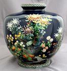 "8.5"" High Japanese Meiji Cloisonné Enamel Vase Attrib. Hayashi Kodenji"