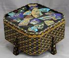 Rare Japanese Meiji period Cloisonne Enamel Kashiki Sweets Box