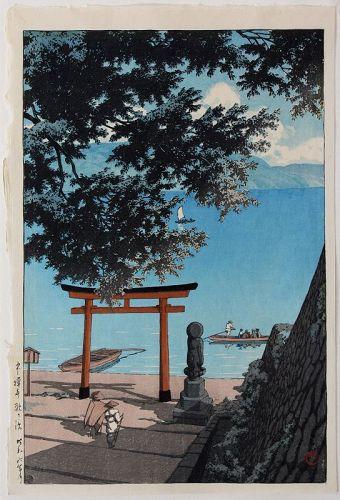 Japanese Woodblock Print Hasui Kawase Chuzenji Utagahama Lifetime Ed.