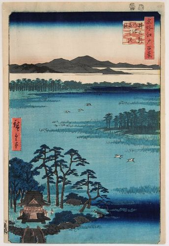 Hiroshige Japanese Edo Woodblock Print Benten Shrine Hundred Views