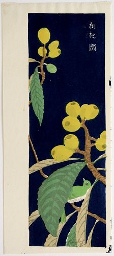 Tokuriki Tomikichiro Japanese Ltd. Edition Woodblock Print Loquat Tree