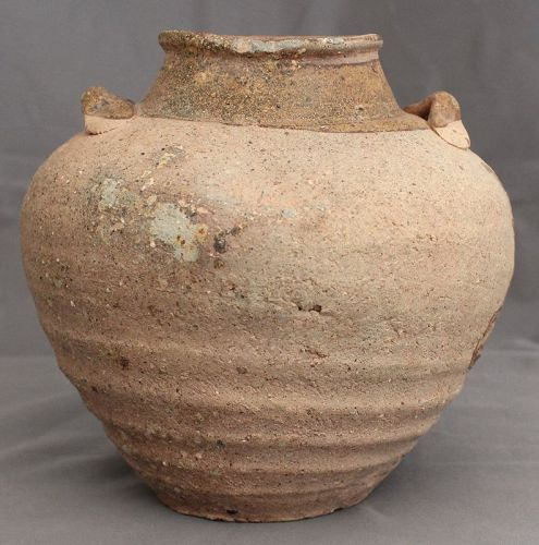 Chinese Song to Yuan Amber Glazed Stoneware Guangdong Ware Jar Vessel