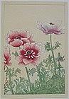 Japanese Kacho-e Woodblock Print Flowers Nishimura Hodo