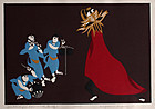 Japanese Limited Edition Woodblock Print Kiyoshi Nagai Harvest Dance