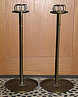 Japanese Bronze Shokudai Candle Stands Candlesticks