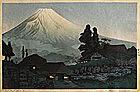Japanese Woodblock Print Hiroaki Shotei Fuji Mizukubo
