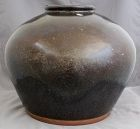 Large Chinese Ming Henan Brown Black Glazed Globular Storage Jar