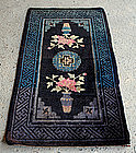 Chinese Vintage Hand-knotted Wool Minority Tribal Prayer Rug Xinjiang