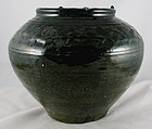 Large Chinese Han Green Lead Glazed Storage Burial Jar