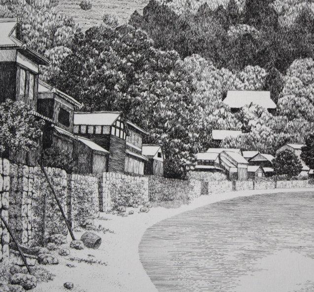 Japanese Ltd. Ed. Etching Tanaka Ryohei Makinohama