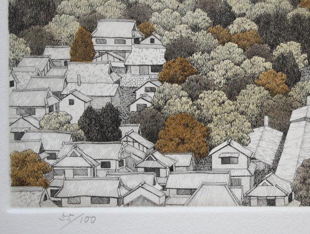 Japanese Ltd. Ed. Etching Tanaka Ryohei - Tachikui