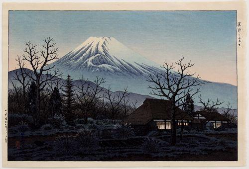 Japanese Woodblock Print - Ito Takashi Fuji Sunset Glow