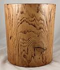 """Large 8""""H Chinese Qing Elm Wood Jumu Scroll Brush Pot Bitong"""