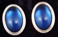 "Krementz Gold Cufflinks with Blue ""Jewels"""