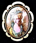 Art Deco T.L. Mott Portrait Brooch