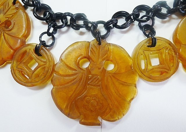 Vintage Celluloid and Early Plastic Chunky Necklace
