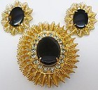 Jonne Black and Gold Colored Demi-Parure