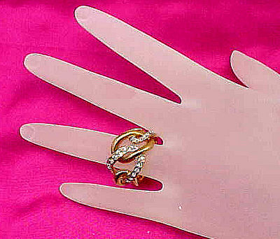 Cubic Zirconia Love Knot Cocktail Ring - Size 7