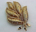 Dramatic Large Hattie Carnegie Leaf Brooch
