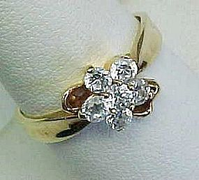 Clear Rhinestone Flower Ring