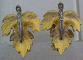 Parklane Leaf Earrings - clips