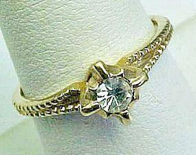 Pretty Solitaire Rhinestone Ring