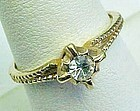 Pretty Solitaire Rhinestone Ring