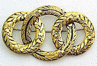 Golden Metal Eternity Brooch