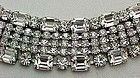 Gorgeous Wide Clear Rhinestone Bracelet