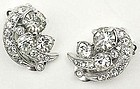 Small Eisenberg Ice Clear Rhinestone Earrings
