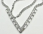 Super Sparkle - V Shaped Clear Rhinestone Necklace