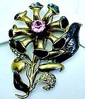 Large Eisenberg Original Brooch - Unusual Style