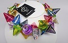 Sobral Large Cone Multi-Colored Necklace- NWT