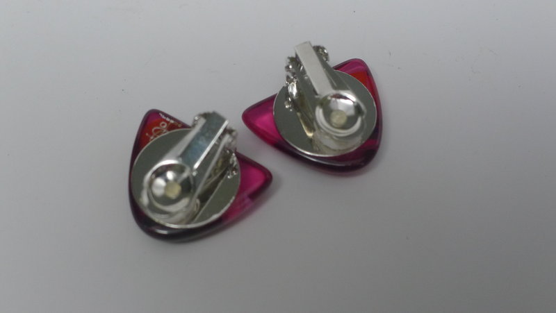 Sobral Red Orient Express Clip Earrings