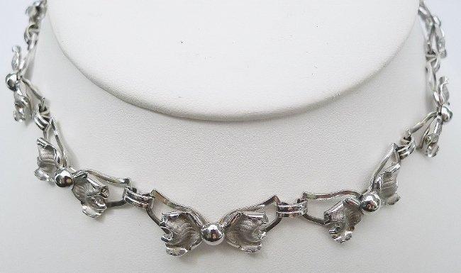 Bond Boyd Sterling Knot Necklace