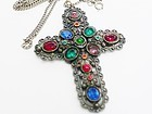 New England Glass Works Cross Necklace