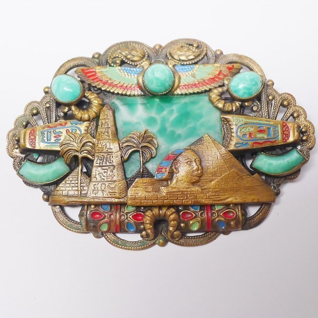 Rare Max Neiger Czech Egyptian Revival Brooch