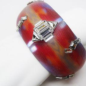 "Alexis Bittar ""O'Keeffe"" Antique Silver Navajo Bracelet"