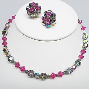 Colorful Hobe Necklace and Earerings