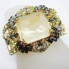 Alice Caviness Huge Jeweled Bangle Bracelet