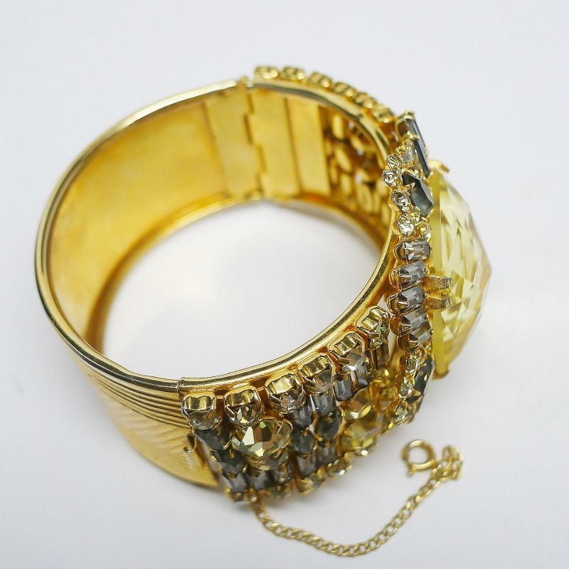 Alice Caviness Huge Jeweled Bangle Bracelet