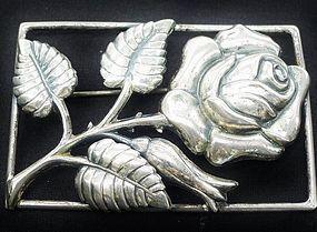 Danecraft Sterling Silver Framed Rose