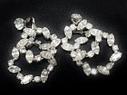 Beautiful Double Hoop Clear Rhinestone Earrings