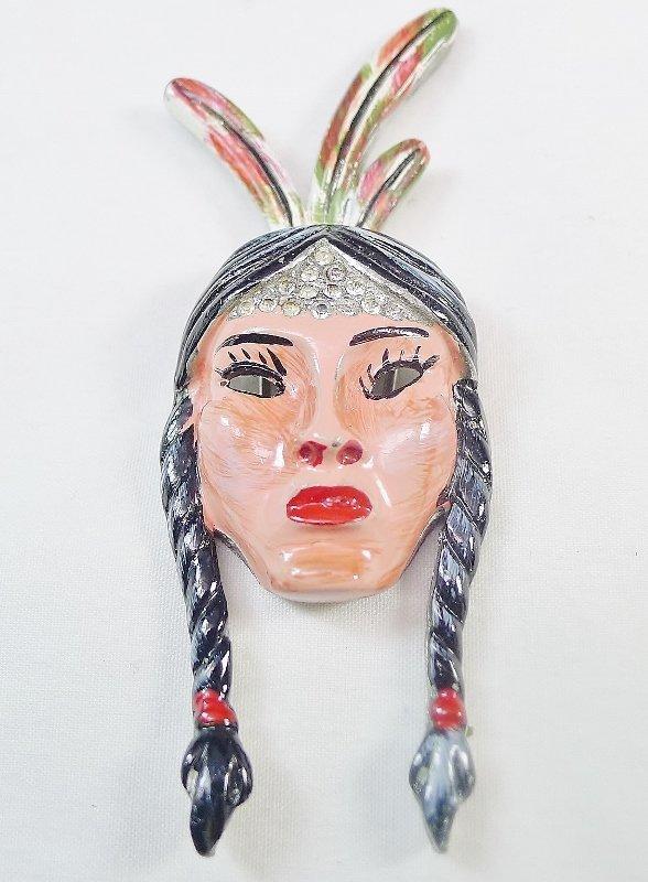 Scarce 1942 Coro Native American Fur Clip