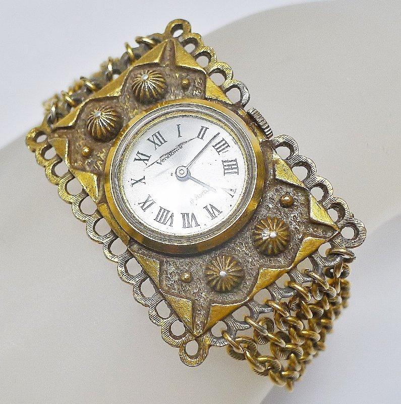 Vendome Copper Colored Multichain Bracelet Watch