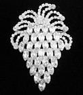 Large Bright Clear Rhinestone Brooch