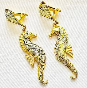 Toledo Seahorse Dangle Earrings - Spanish
