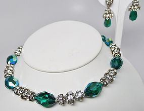 Stunning Vogue Rhinestone and Aurora Borealis Set